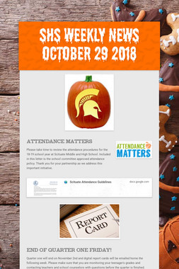 SHS Weekly News October 29 2018