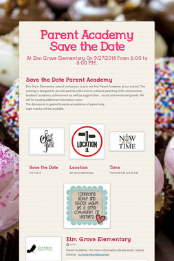 Parent Academy Save the Date