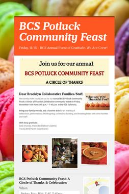 BCS Potluck Community Feast