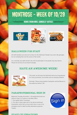 Montrose - Week of 10/29