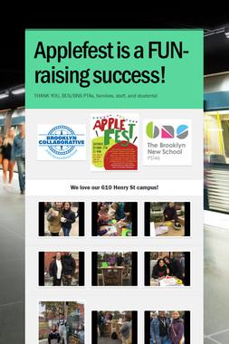 Applefest is a FUN-raising success!