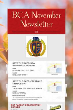 BCA November Newsletter