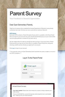 Parent Survey
