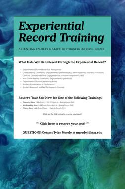 Experiential Record Training