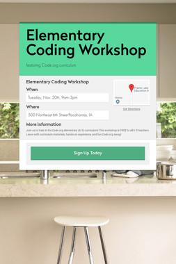 Elementary Coding Workshop