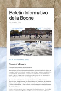 Boletín Informativo de la Boone