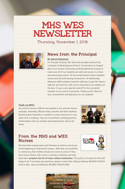 MHS WES NEWSLETTER