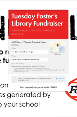 Tuesday Foster's Library Fundraiser