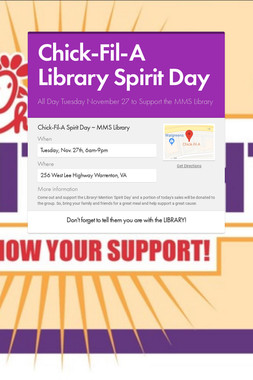 Chick-Fil-A Library Spirit Day