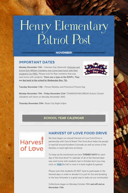 Henry Elementary Patriot Post