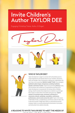 Invite Children's Author TAYLOR DEE