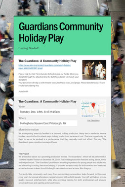Guardians Community Holiday Play