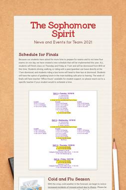 The Sophomore Spirit