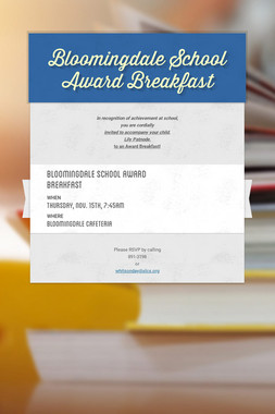 Bloomingdale School Award Breakfast