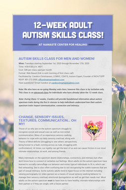 Autism & Intimacy Web Classes
