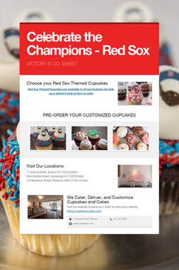Celebrate the Champions - Red Sox
