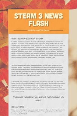 STEAM 3 News Flash