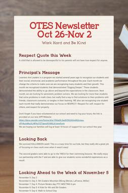 OTES Newsletter Oct 26-Nov 2