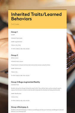Inherited Traits/Learned Behaviors