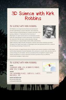 3D Science with Kirk Robbins