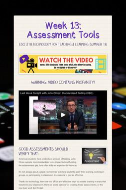 Week 13: Assessment Tools
