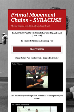 Primal Movement Chains - SYRACUSE