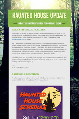 Haunted House Update