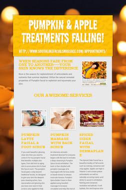 Pumpkin & Apple Treatments Falling!