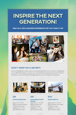 Inspire the Next Generation!