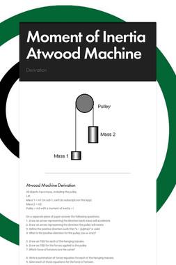 Moment of Inertia Atwood Machine