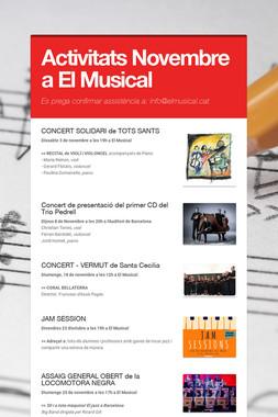 Activitats Novembre a El Musical