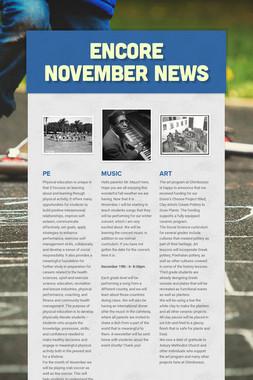 ENCORE November News