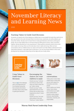 November Literacy and Learning News