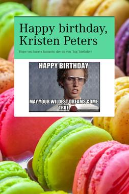 Happy birthday, Kristen Peters