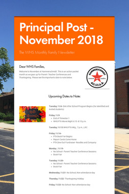 Principal Post -November  2018