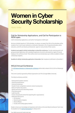 Women in Cyber Security Scholarship