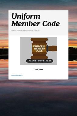 Uniform Member Code