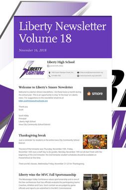 Liberty Newsletter Volume 18