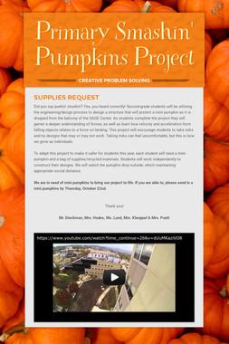 Primary Smashin' Pumpkins Project