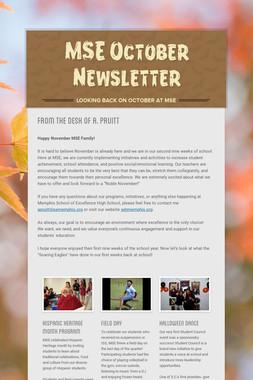 MSE October Newsletter