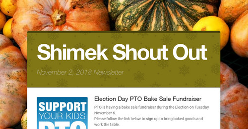 Shimek Shout Out | Smore Newsletters for Education