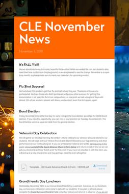 CLE November News