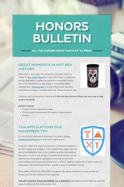 Honors Bulletin