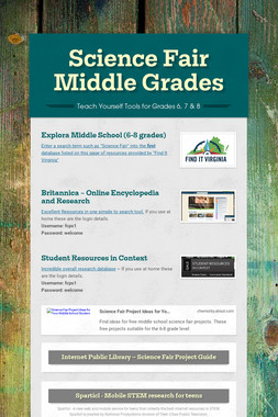 Science Fair Middle Grades