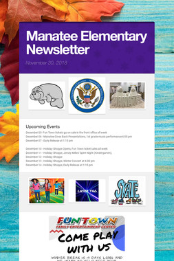 Manatee Elementary Newsletter