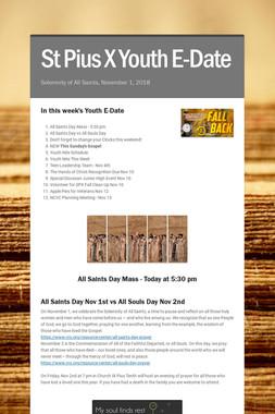St Pius X Youth E-Date