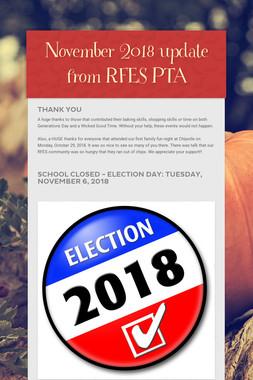 November 2018 update from RFES PTA