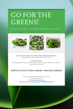 GO FOR THE GREENS!