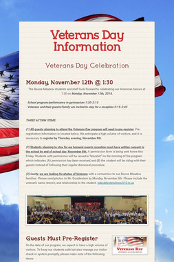 Veterans Day Information