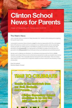 Clinton School News for Parents